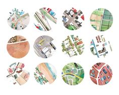 Watercolour maps by South African artist Gabrielle Raaff, as part of the Bicycle Portraits series...worth taking a look at.