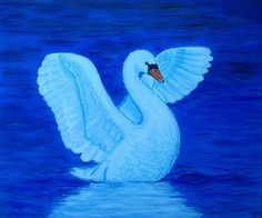 Young swan about to fly; Acryl paint on mdf board x 50 cm) Swan Painting, Big Project, Bird, Canvas, Projects, Desktop, Clay, Paintings, Animales
