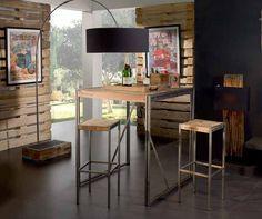 Mesa Alta de diseño industrial colección URBAN FACTORY. Decoración Beltran, tu tienda online en mobiliario de hostelería y decoración de diseño industrial. Luxor, Bar, Ideas Para, Desk, The Originals, Table, Furniture, Lighting, Home Decor