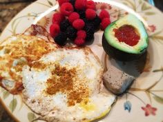 Duck Liver Pate, Eggs, Avocado With Salmon Eggs, And Berries: 7/23/14