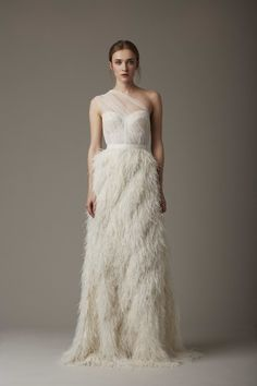 Ostrich feathers: http://www.stylemepretty.com/2015/04/20/lela-rose-spring-2016/
