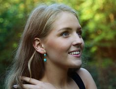 Turquoise double stone earrings by Rosehip Jewelry on Etsy