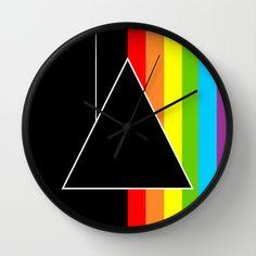 Tribute Pink Floyd | Dark Side Of The Moon Wall Clock by Danny Ivan - $30.00