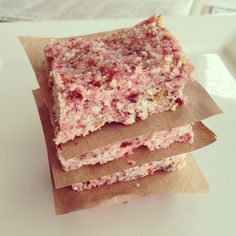 Strawberry Coconut Bars by @TaylorMadeItPaleo