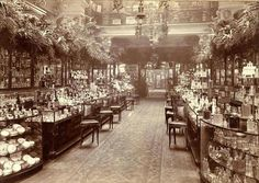 "doctornerdington: "" when-vintage-meets-modern: "" The Perfumery Salon at Harrods department store in 1903, London, England "" Oh man, this is amazing. That's where Harriet Vane buys Peter's Christmas gift the year after Gaudy Night, I'm pretty sure. """