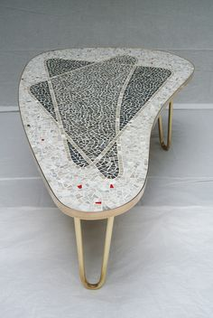 Unique German Studio Handcrafted Tile Mosaic Coffee Table, 1957 | From www.1stdibs.com.
