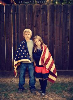 Cute kids Americana photo