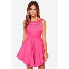 L'Atiste Hot Pink Dress