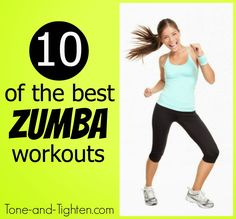 10 of the best FREE Zumba workout videos online! Get them all on Tone-and-Tighten.com