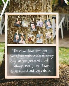 A cute way to remember those who have passed at your wedding.