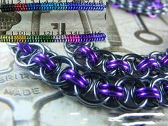 Chainmaille BDSM Gorean Slave Collar Choker Necklace Black Pearl Base #AislinnsCollaredDesigns #Choker