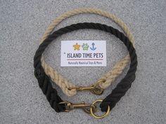 Nautical Rope Dog Collars