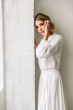 Civil Wedding, Wedding Gowns, Wedding Outfits, Bridal Looks, Bridal Style, Mohair Sweater, Spring Summer Fashion, Beautiful Outfits, Marie