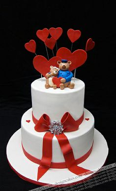 Valentine's wedding cake