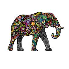 Exotic Floral Elephant Decal Made In The USA With High