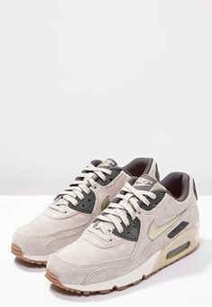 Nike Sportswear AIR MAX 90 PREMIUM - Sneaker low - string/metallic gold green/dark storm/sail - Zalando.de