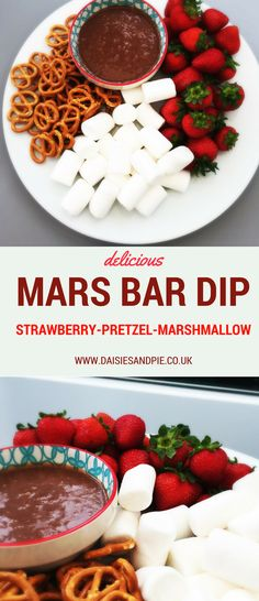 Totally indulgent chocolate dip recipe - our mars bar dip is so delicious you'll want to make it again and again! Perfect for sleepovers or movie night treats.