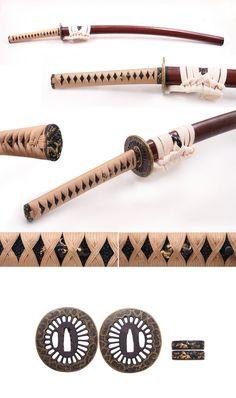 Samurai Weapons, Ninja Weapons, Katana Swords, Anime Weapons, Samurai Art, Fantasy Weapons, Japanese Blades, Japanese Sword, Swords And Daggers