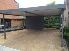 carport met geïntegreerde berging in aluminium | Metallooks
