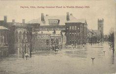 View of B.L. Lehman and Besko restaurant on West Fourth Street in Dayton, 1913 | Photo credit: HistoricNaturalDisasters.com