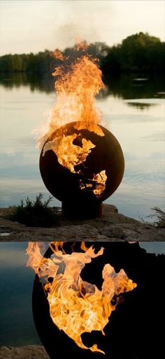 Global Warming - Fire Sculptural by Rick Wittrig