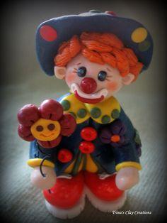 *POLYMER CLAY ~  Clown.
