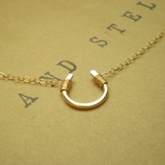 Tiny Luck Necklace  Tiny Hand Formed Gold Filled by BeauAndStella, $34.00