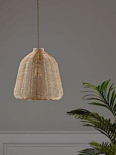 Handwoven from delicate rattan in a natural finish, our Scandinavian inspired rattan shade has a simple chevron design and an elegant bell shape. Pendant Lighting Bedroom, Wicker Floor Lamps, Pendant Lighting, Modern Ceiling, Rattan Shades, Rattan, Modern Ceiling Light, Ceiling Lights, Wicker Lamp Shade