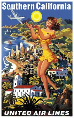 Vintage Southern California Travel Poster