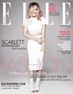 Scarlett Johnasson Elle UK February 2013 cover