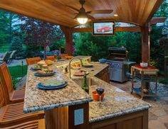 """Get fantastic ideas on """"outdoor kitchen designs layout patio"""". They are accessib… Get fantastic ideas on """"outdoor kitchen designs layout patio"""". They are accessible for you on our web site. Deck With Pergola, Covered Pergola, Pergola Patio, White Pergola, Patio Bar, Pergola Plans, Pergola Ideas, Patio Ideas, Pergola Cover"""