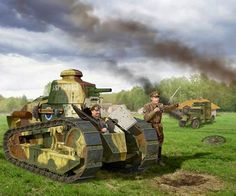 Russian White Army Renault FT17 during Russian Civil War