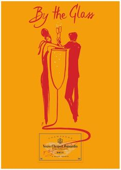 Veuve Clicquot, one of the most iconic champagne brands (LVMH group), began its collaboration with Florence Deygas in 2007 . Veuve Clicquot Champagne, Veuve Cliquot, Vintage Champagne, Vintage Wine, Vintage Cards, Impression Etiquette, Wine Poster, Silvester Party, In Vino Veritas
