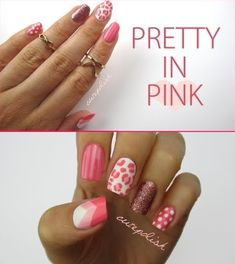 Fairly Pink Mix And Match Nail Style | Nail2016 Model Haircut and hairstyle ideas