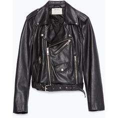 Zara Faux Leather Jacket ($70) ❤ liked on Polyvore featuring outerwear, jackets, zara, black, coats & jackets, lined jacket, fake leather jacket, faux leather jacket, imitation leather jacket and zara jacket