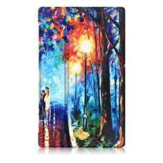 For Kindle accessories,Kshion Leather Shell Case Cover Cover Case Shockproof [Anti Slip] for Kindle Fire HD 8 Inch Tablet (C)