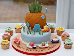 sponge bob bikini bottom birthday cake