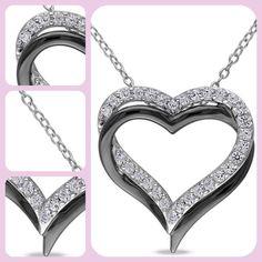Women Pendant Silver Necklace Miabella Fashion 5/8 Carat White Sapphire Sterling | Jewelry & Watches, Fine Jewelry, Fine Necklaces & Pendants | eBay!