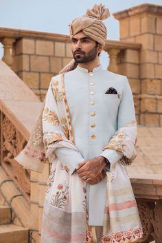 Indian Wedding Clothes For Men, Sherwani For Men Wedding, Wedding Dress Men, Wedding Men, Wedding Suits, Sherwani Groom, Men's Wedding Wear, Reception Suits, Indian Groom Dress