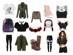 """""""cute style 4 girls"""" by a-plougman ❤ liked on Polyvore featuring Killstar, WithChic, Boohoo and LE3NO"""