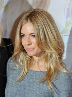 Sienna Miller layered hair - possible cut