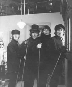 John Lennon, Paul McCartney, George Harrison, and Richard Starkey (in Help!)