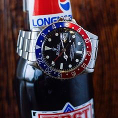 Nothing like a nice Pepsi at the end of a long day.  This vintage Rolex GMT Master is available now.