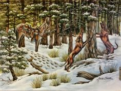 Custom coon hunting painting by Monica Turner! I paint from your photos and ideas!