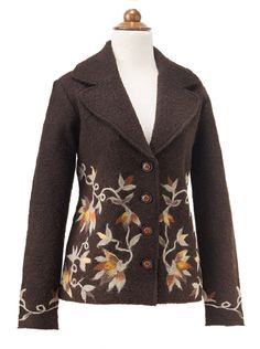 Other Apparel - Embroidered Leaves Jacket Irish Clothing, Winter Outfits, Cool Outfits, Samhain Halloween, Embroidered Leaves, Birthday Love, Fall Collections, Fall Wardrobe, Mabon