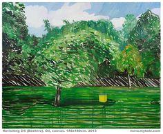 Mykolé, REVISITING 2/6 (Beehive).  Oil, canvas. 145x180cm.