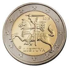 LITUANIE 2 Euro Armoirie Lituannienne 2015 UNC