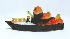 Boing Boing Gadgets - Sushi that looks like a Japanese Battleship