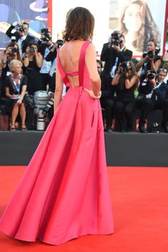 Nieves Alvarez wearing Alberta Ferretti, 2 of 2, because the back is lovely, too.