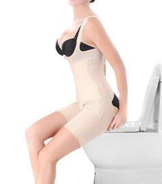 16396d768f Zcargel Women Full Body Shaper Waist Cincher Underbust Corset Thigh Bodysuit  Shapewear at Amazon Women s Clothing store
